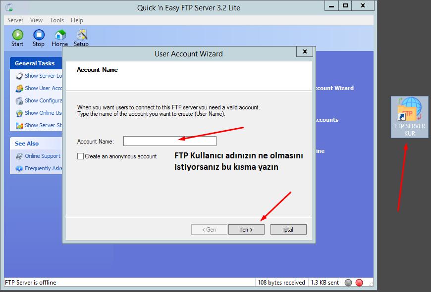 Keyubu FTP örnek